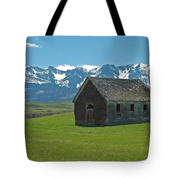 Tote Bag featuring the photograph Shields Valley Abandoned Farm Ranch House by Bruce Gourley
