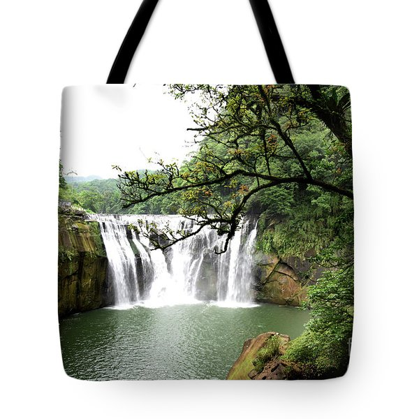 Shifen Waterfall  Tote Bag by Hanza Turgul