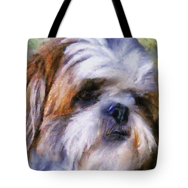 Shih Tzu Portrait Tote Bag