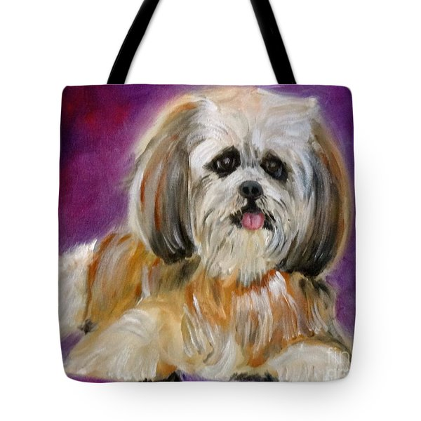 Shih-tzu Puppy Tote Bag by Jenny Lee
