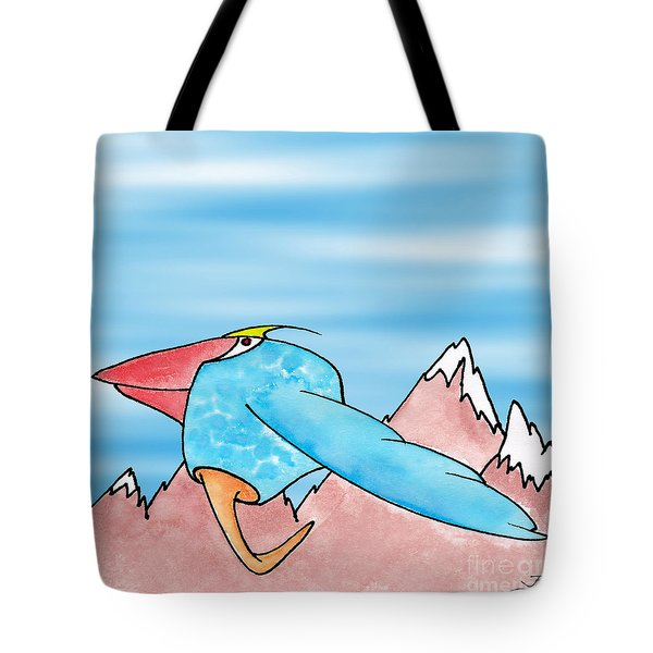 Tote Bag featuring the digital art Shikoba by Uncle J's Monsters