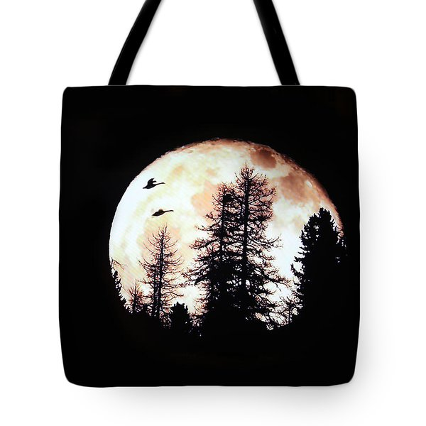 Silhouettes Om Full Moon Tote Bag