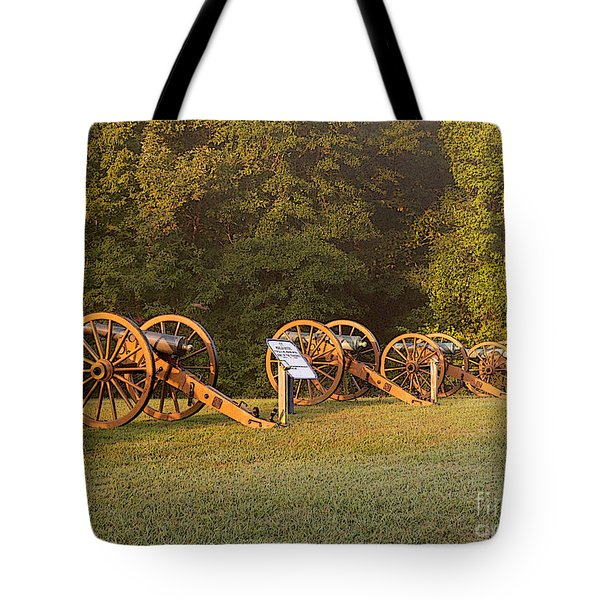 Shiloh Cannons Tote Bag by David Bearden