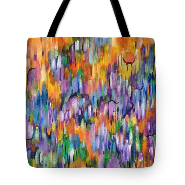 Tote Bag featuring the painting Shimmer by Lynda Lehmann