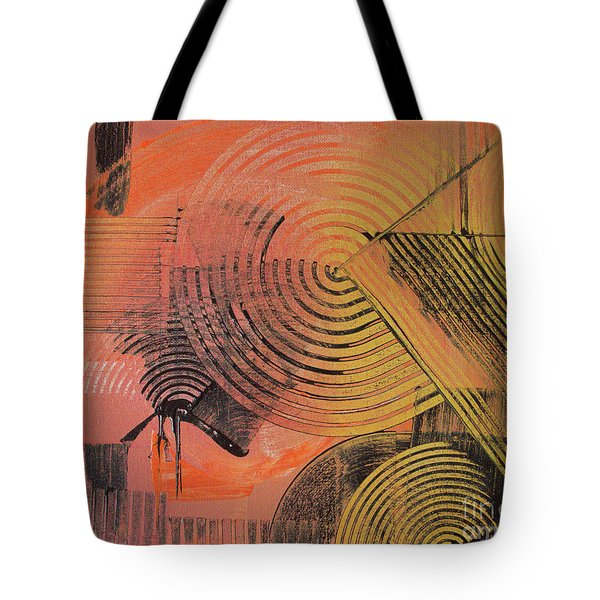 Tote Bag featuring the painting Shimmer by Melissa Goodrich