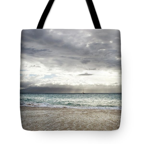 Tote Bag featuring the photograph Shimmering Evening At Ka'anapali by Charmian Vistaunet