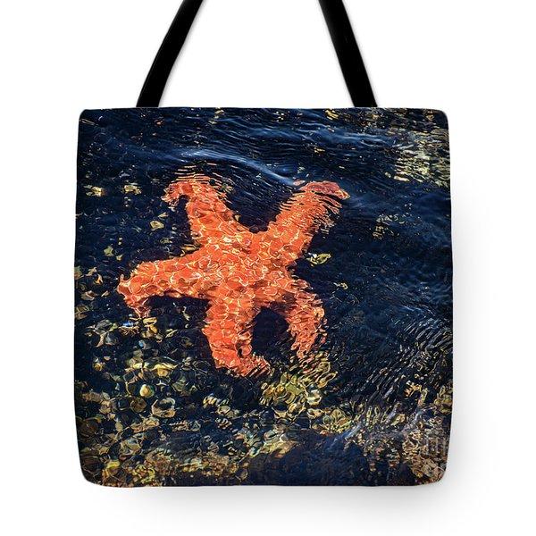 Shimmering Starfish Tote Bag