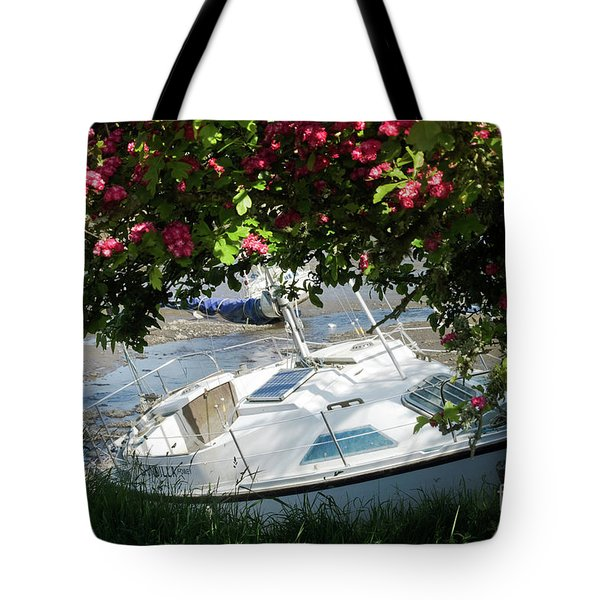 Shindilla Framed With Flowers Tote Bag