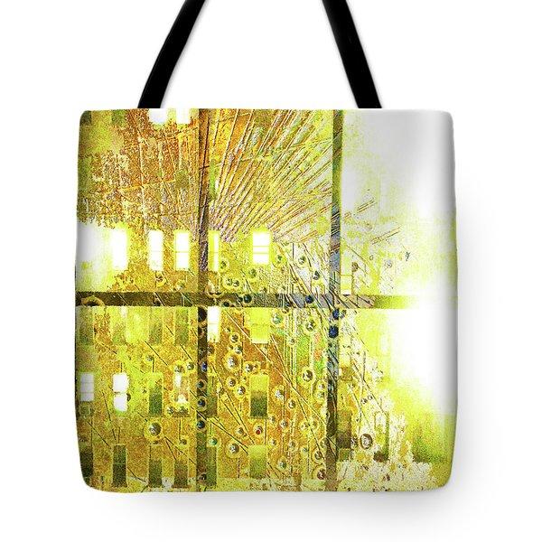 Tote Bag featuring the mixed media Shine A Light by Tony Rubino