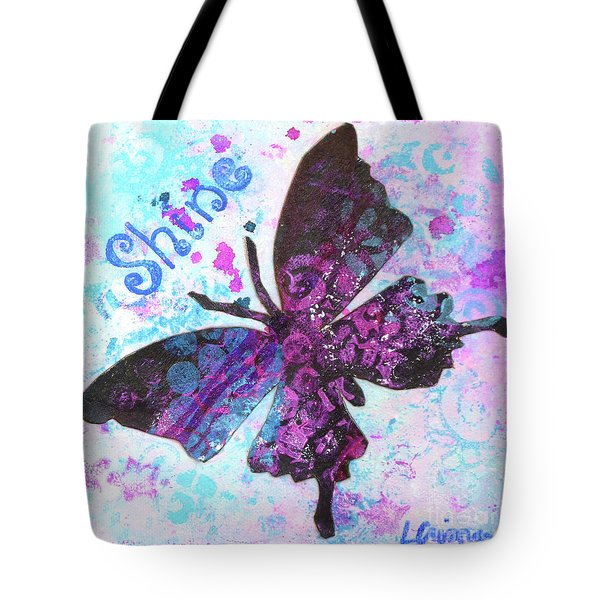 Shine Butterfly Tote Bag