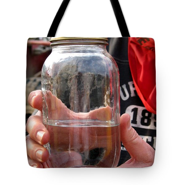 Tote Bag featuring the photograph Shine In A Bell Jar by Beauty For God