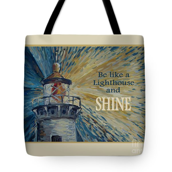 Tote Bag featuring the painting Shine by Maria Langgle