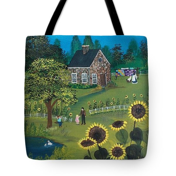 Tote Bag featuring the painting Shine On by Virginia Coyle