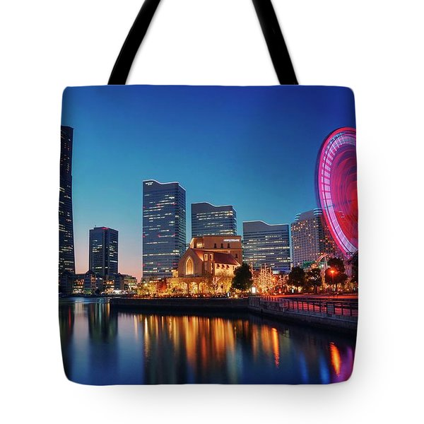 Tote Bag featuring the photograph Shine On You Crazy Ferris Wheel by Peter Thoeny