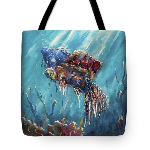 Shine Trough The Ocean Tote Bag