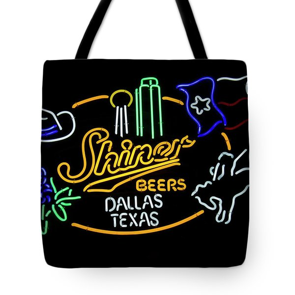 Shiner Beers Dallas Texas Tote Bag