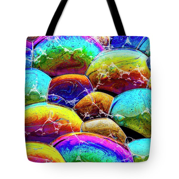 Tote Bag featuring the photograph Shiney Bubbles by Jean Noren