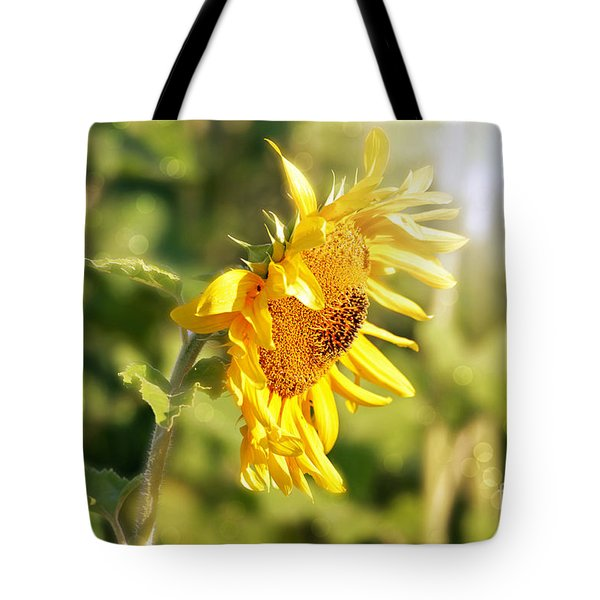 Tote Bag featuring the photograph Shining Sun by Lila Fisher-Wenzel