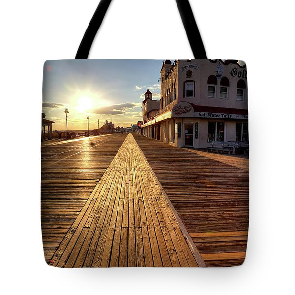 Shining Walkway Tote Bag by John Loreaux
