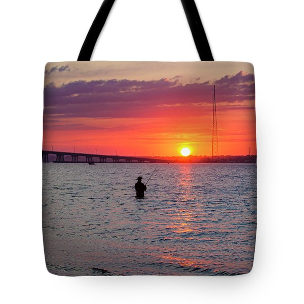 Shinnecock Fisherman At Sunset Tote Bag