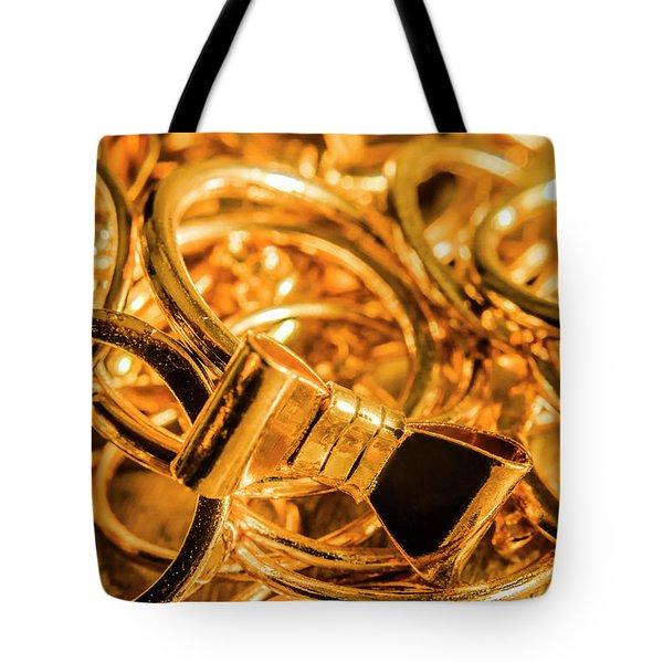 Shiny Gold Rings Tote Bag