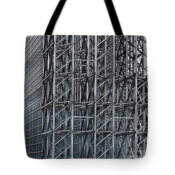 Shiny Steel Construction Tote Bag