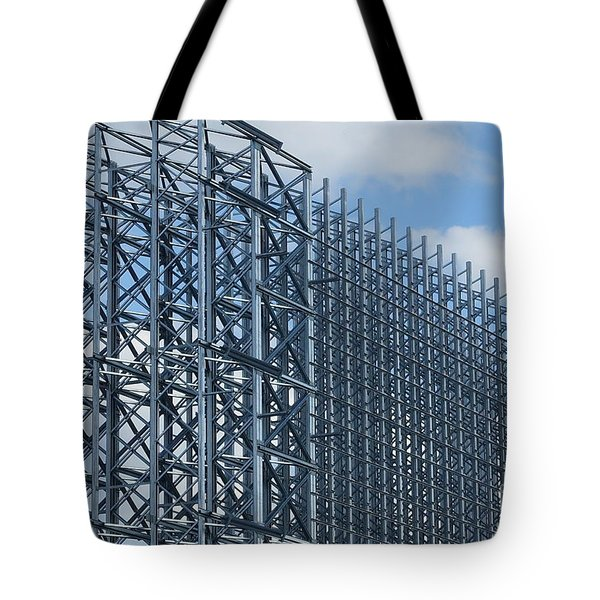 Shiny Steel Construction In Nature Tote Bag