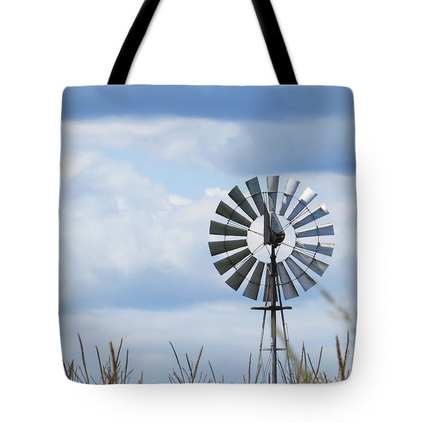 Tote Bag featuring the photograph Shiny Windmill by Jeanette Oberholtzer