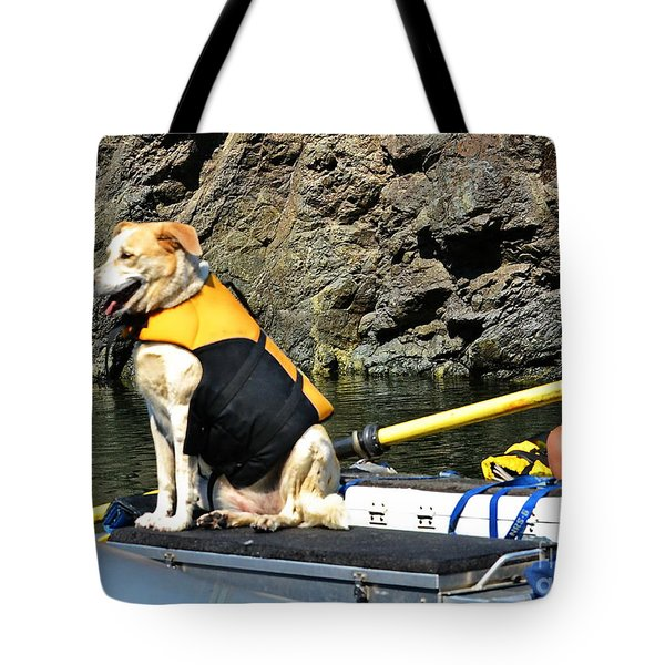 Ship, Captain And Crew Tote Bag
