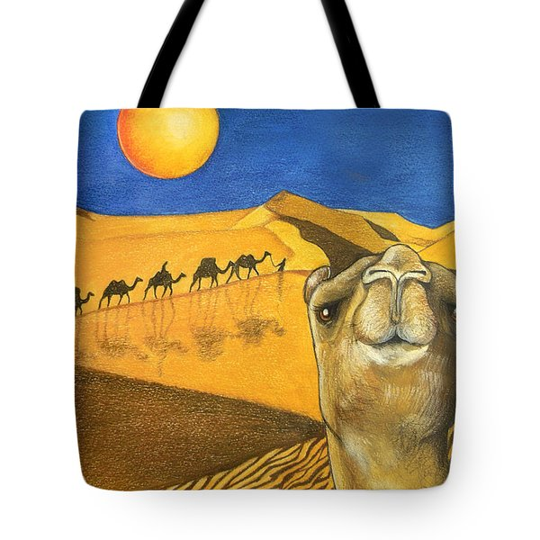 Ship Of The Desert Tote Bag by Robert Lacy
