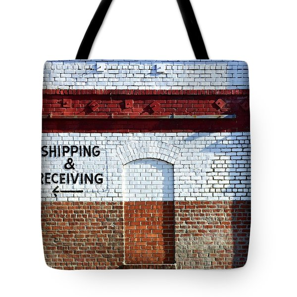 Shipping And Receiving  Tote Bag by Julie Gebhardt