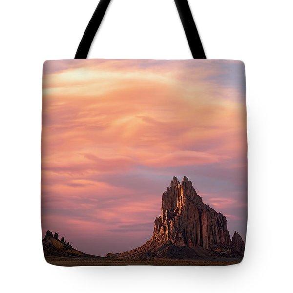 Shiprock At Sunset Tote Bag