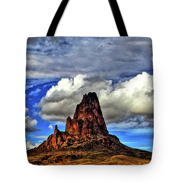 Tote Bag featuring the photograph Shiprock Panorama by Scott Mahon