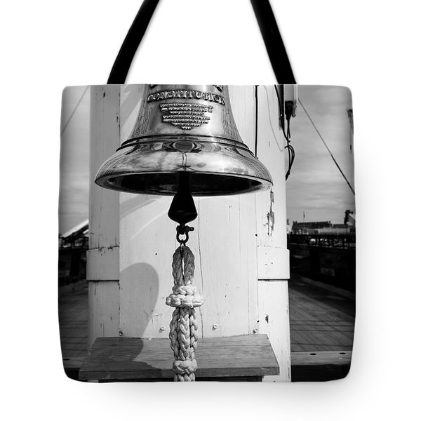 Ships Bell Uss Constitution Tote Bag
