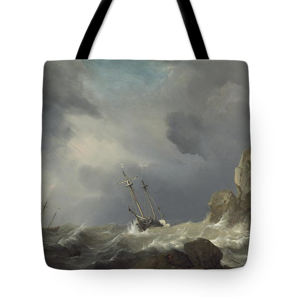 Ships In A Gale Tote Bag