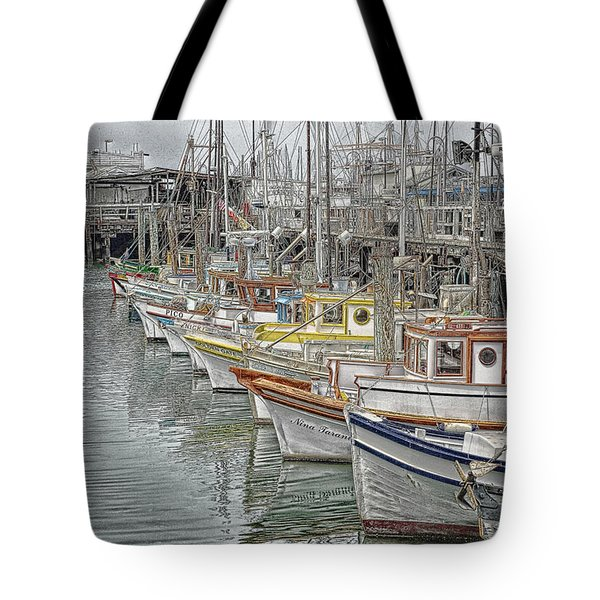 Ships In The Harbor Tote Bag