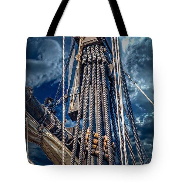 Ships Mast Tote Bag