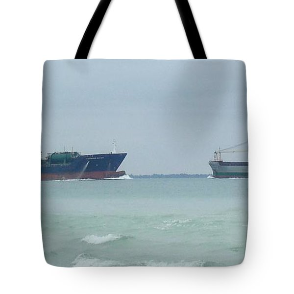Ships Meet Tote Bag