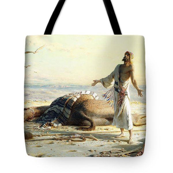 Shipwreck In The Desert Tote Bag by Carl Haag