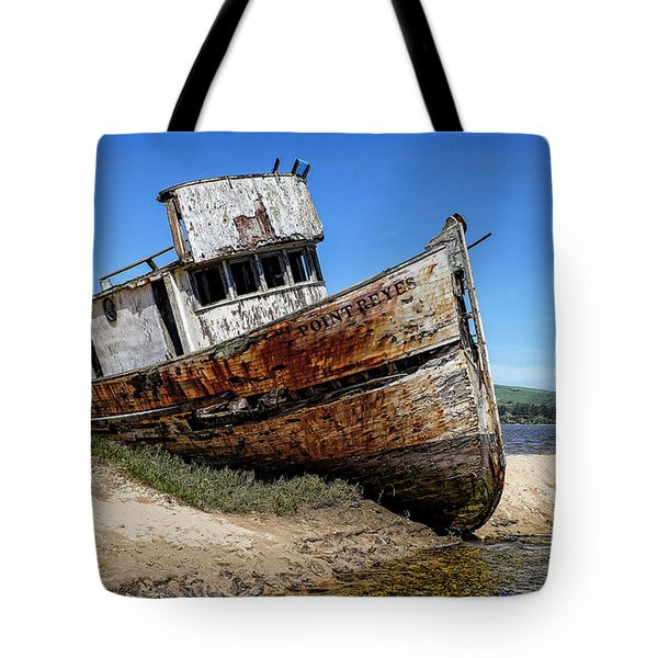Tote Bag featuring the digital art Shipwreck by Jason Abando
