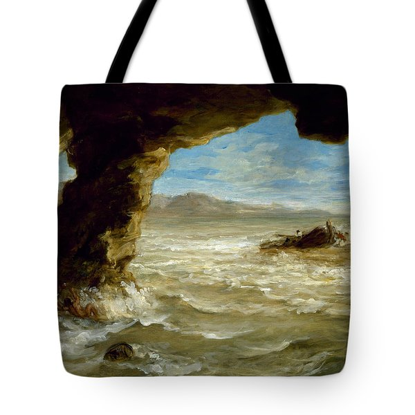 Shipwreck On The Coast  Tote Bag
