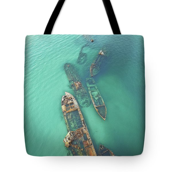 Shipwrecks Tote Bag