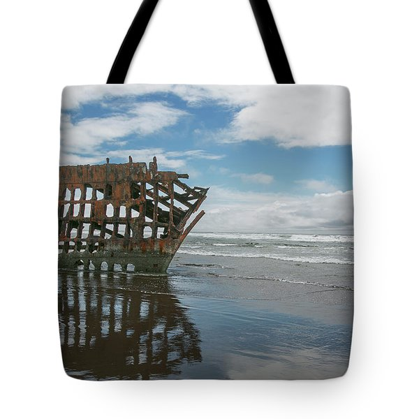 Tote Bag featuring the photograph Shipwreck by Elvira Butler