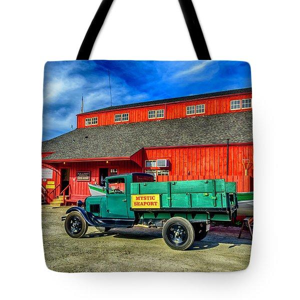Shipyard Work Truck Tote Bag