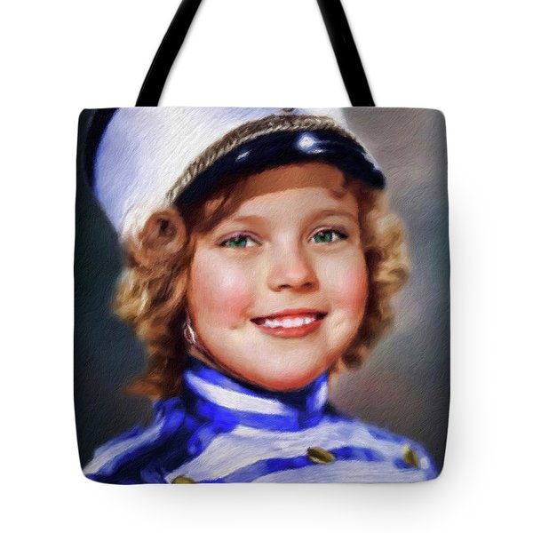 Shirley Temple, Vintage Actress Tote Bag