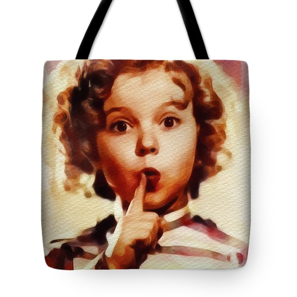 Shirley Temple, Vintage Movie Star Tote Bag