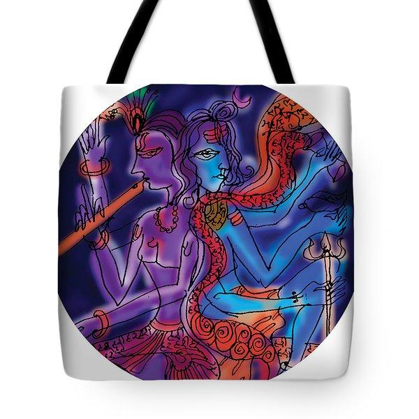 Shiva And Krishna Tote Bag