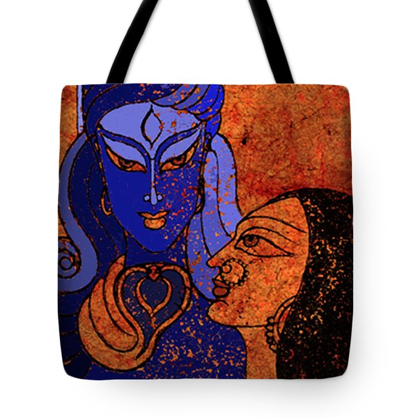 Shiva And Shakti Tote Bag by Sonali Chaudhari