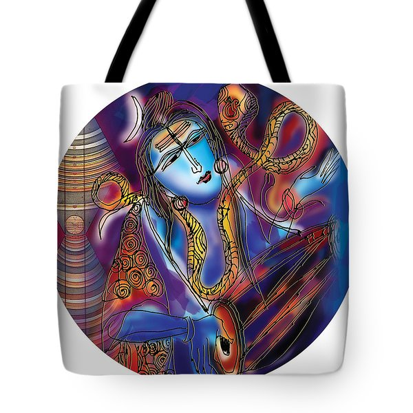 Shiva Playing The Drums Tote Bag