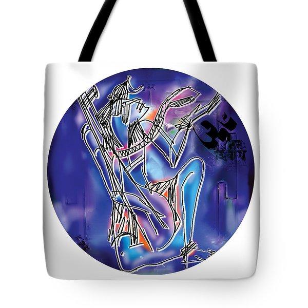 Shiva Playing Vina Tote Bag